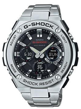 【お取り寄せ商品】カシオ【G-SHOCK】国内品「G-STEEL(Gスチール)」電波ソーラー時計GST-W110D-1AJF
