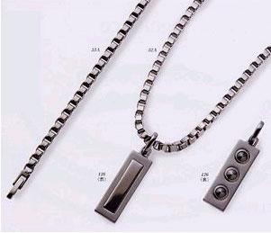 【メーカー直送品】MARE純チタン製3石ゲルマニウム高級ネックレス プラチナメッキ50cm MARE52A-126【smtb-tk】
