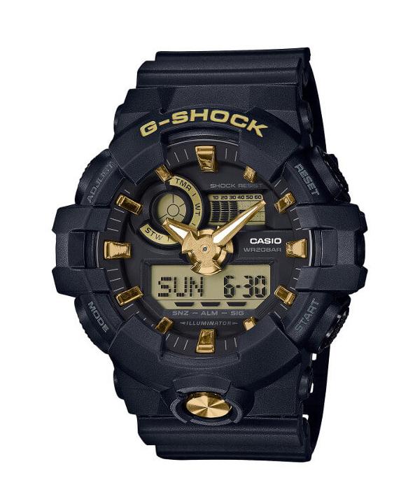 【あす楽対応商品】Gショック 海外モデル CASIO G-SHOCK ブラック&ゴールド GA-710B-1A9