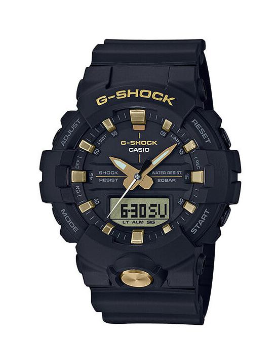 【特価品】カシオG-SHOCK海外モデルアナデジコンビネーション ブラック&ゴールド GA-810B-1A9
