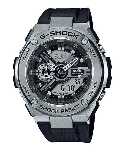 【8月30日頃入荷予定】【特価品】カシオG-SHOCK海外モデルG-STEEL GST-410-1A