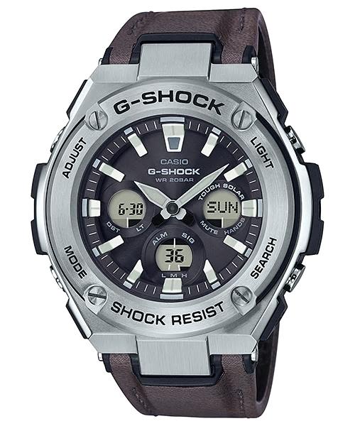 【特価品】カシオG-SHOCK海外モデル Gスチール タフソーラー GST-S330L-1A