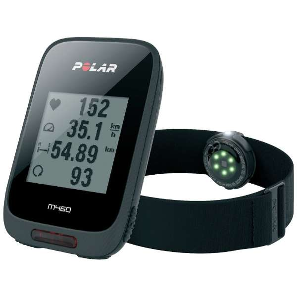 【お取寄せ品】ポラール GPSサイクルコンピュータ M460 OH1(心拍センサー付)ブラック 90069011