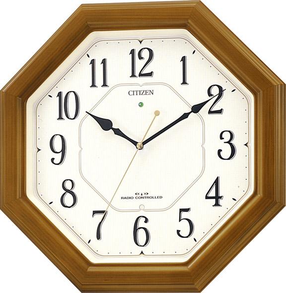 【お取寄せ品】シチズン電波掛時計「ネムリーナルック」4MY645-006