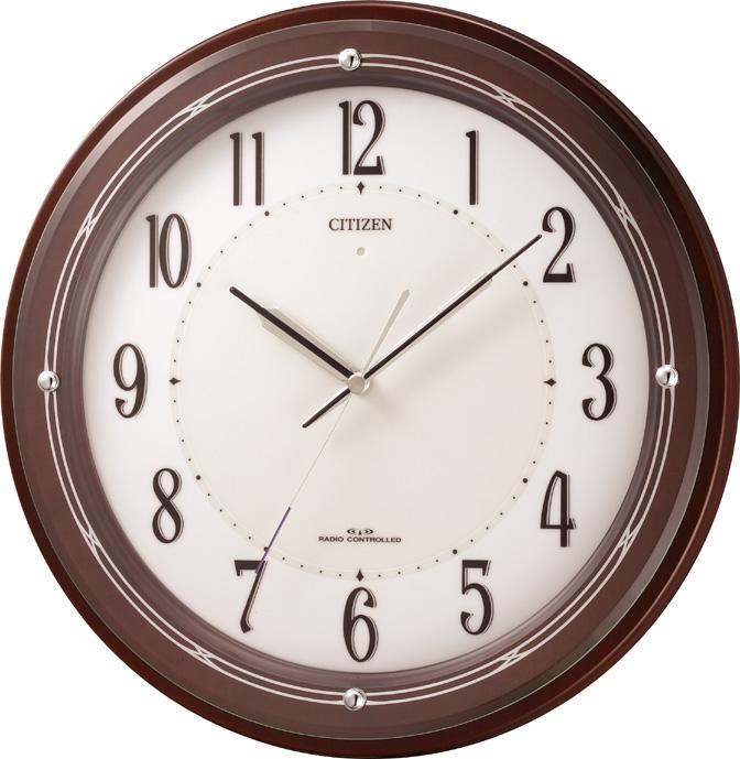 【お取寄せ品】シチズン電波掛時計「サイレントソーラー」4MY796-006