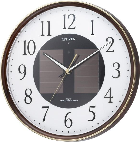 """【お取寄せ品】シチズン電波掛時計「エコライフM807」""""ソーラー電源"""" 4MY807-023"""