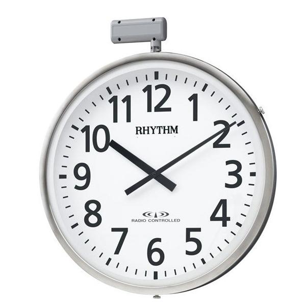 【お取寄せ品】リズム電波掛時計 屋外用防雨型 ムーンライトN4MY812RH19