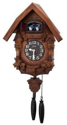 【お取寄せ品】リズム鳩時計「クオーツカッコーテレスR」4MJ236RH06