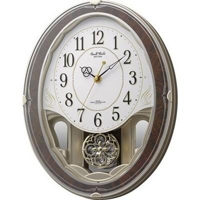 【お取寄せ品】リズム時計製電波掛時計 スモールワールドハイム4MN520RH23