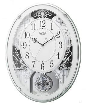 【お取寄せ品】リズム時計製電波掛時計「スモールワールドプラウド」4MN523RH05