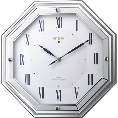 【あす楽対応商品】シチズンソーラー電波掛時計「サイレントソーラールーチェ」4MY836-005