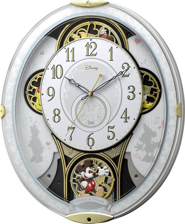 【お取寄せ品】リズム時計 電波掛時計 ディズニー ミッキー&フレンド M5094MN509MC03