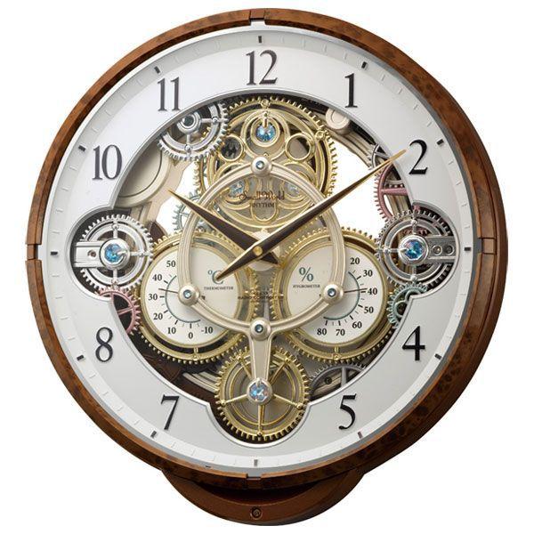【お取寄せ品】リズム時計製電波掛時計 スモールワールドシーカー 4MN515RH23