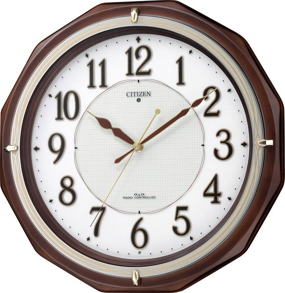 【あす楽対応商品】シチズン電波掛時計「リバライトM801」4MY801-006