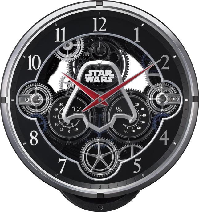 【お取寄せ品】リズム時計 電波からくり掛時計 スターウォーズ4MN533MC02