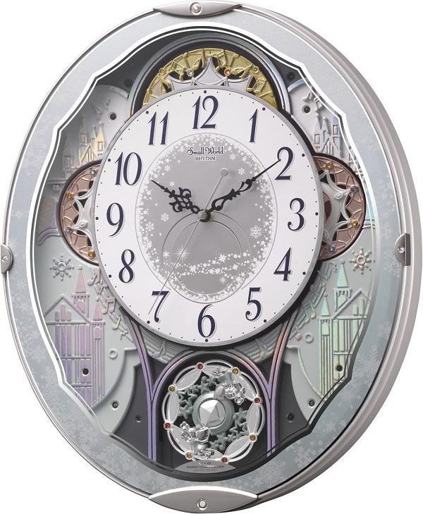 【お取寄せ品】リズム時計製電波掛時計 スモールワールドビスト4MN537RH04