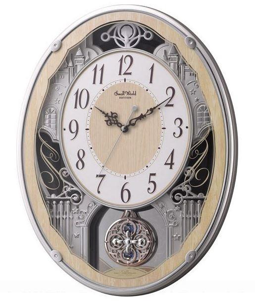 【お取寄せ品】リズム時計製電波掛時計 スモールワールドクラッセ 4MN538RH23
