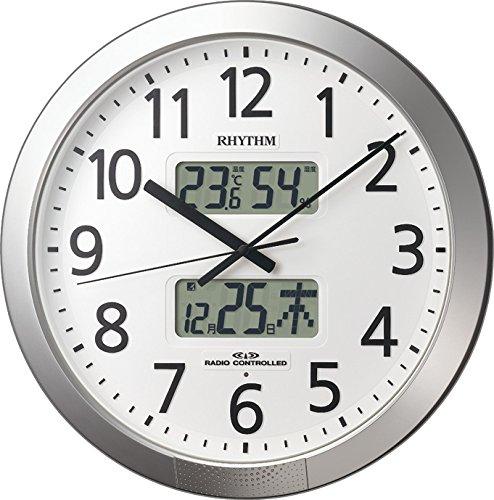 【お取寄せ品】リズム電波掛時計 プログラムカレンダー4FN404SR19