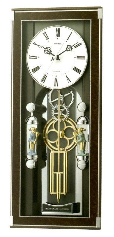 【お取寄せ品】リズム時計製電波掛時計 ソフィアーレプリモ4MN535SR23