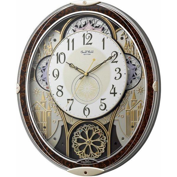 【お取寄せ品】リズム時計製電波掛時計 スモールワールドノエルN4MN539RH23