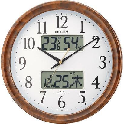 【お取寄せ品】リズム電波掛時計 ピュアカレンダーM617SR4FY617SR23