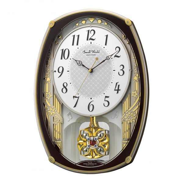 【お取寄せ品】リズム時計製電波掛時計 スモールワールドレジーナ4MN540RH06