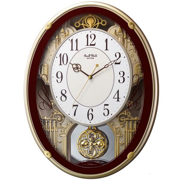 【お取寄せ品】リズム時計製電波掛時計「スモールワールドプラウド」4MN523RH06