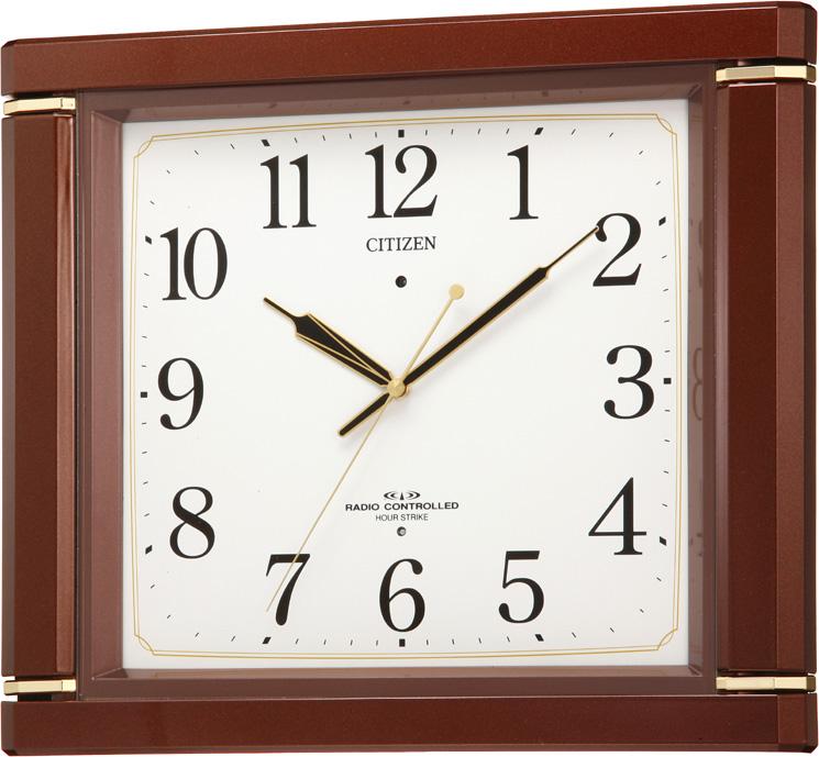 【アウトレット品】シチズン製電波掛時計「ネムリーナM494」4MN494-097-06:T.Time
