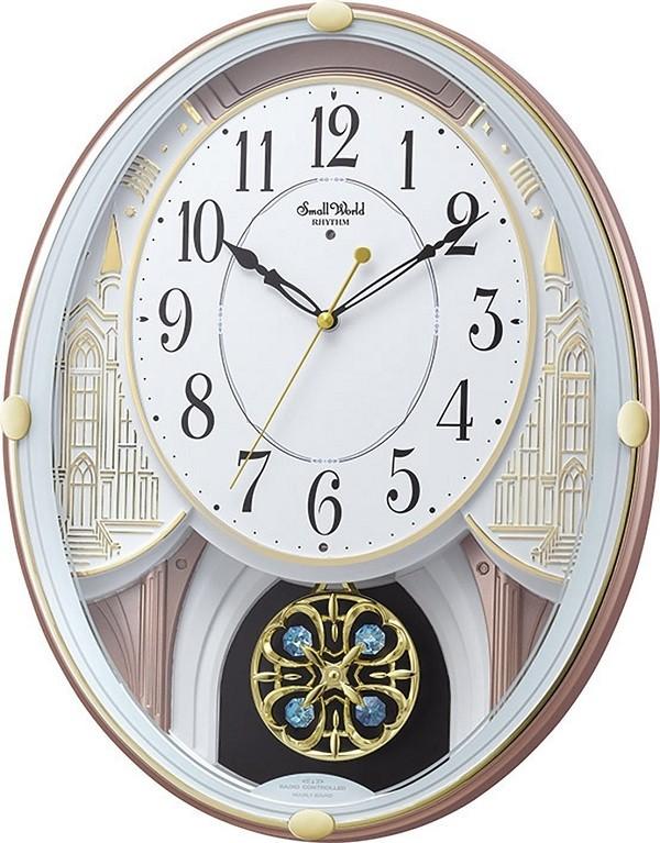 【お取寄せ品】リズム時計製 電波掛時計「スモールワールドエクラ」4MN548RH03