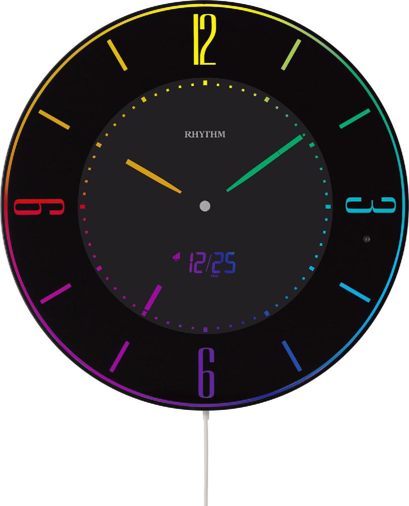 【お取寄せ品】リズム時計製電波掛時計「Iroria A(イロリア エー)」8RZ197SR02
