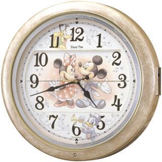 【お取寄せ品】セイコークロック 電波掛時計♪ディズニータイム♪FW561A