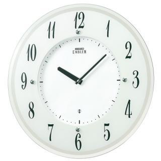 【お取寄せ品】セイコークロックソーラー電波掛時計「セイコーエムブレム」HS533W【smtb-tk】