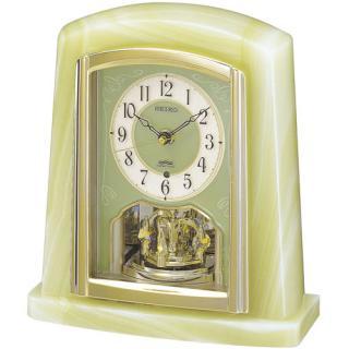 【お取寄せ品】セイコークロック電波置時計 オニキス枠BY223M