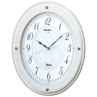 【お取寄せ品】セイコークロック 大人ディズニープリンセス スワロフスキーメロディ付き電波掛け時計FS502W