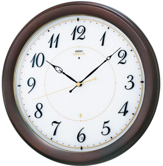 【お取寄せ品】セイコークロック電波掛時計「セイコーエムブレム」HS547B【smtb-tk】