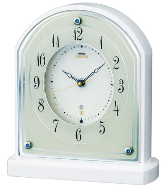 【お取寄せ品】セイコークロック電波置き時計「セイコーエムブレム」HW587W, 柵原町:adc00f36 --- campusformateur.fr