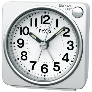ライトつきの小さな目ざまし時計は シンプルで使いやすさ抜群 お取寄せ品 通信販売 目覚まし時計NR437W ピクシス セイコークロック 一部予約