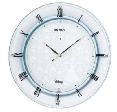 【お取寄せ品,送料無料】セイコー製大人ディズニーシンデレラ スワロフスキー 電波掛け時計 FS503W
