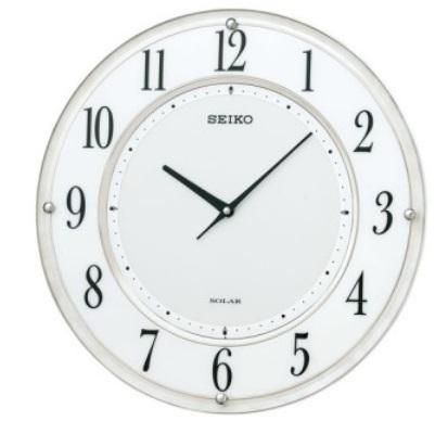 【お取寄せ品】SEIKO CLOCK (セイコークロック)薄型電波ソーラー電波掛時計SF506W