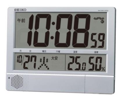 【お取寄せ品】セイコークロック電波時計 掛け置き兼用プログラムクロックSQ434S