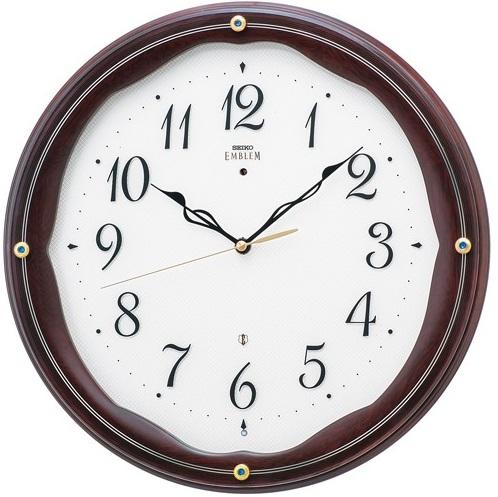 【お取寄せ品】セイコークロック電波掛時計「セイコーエムブレム」 HS551B【smtb-tk】