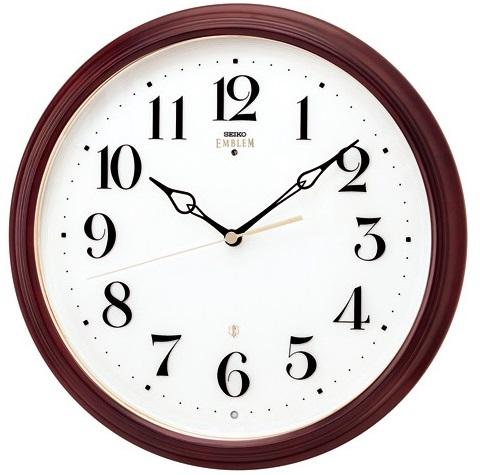 【お取寄せ品】セイコークロック電波掛時計「セイコーエムブレム」 HS553B【smtb-tk】