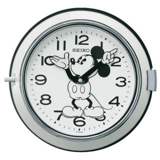 【お取寄せ品・送料無料】セイコー製 大人ディズニーミッキー 防塵型 掛け時計FS504W