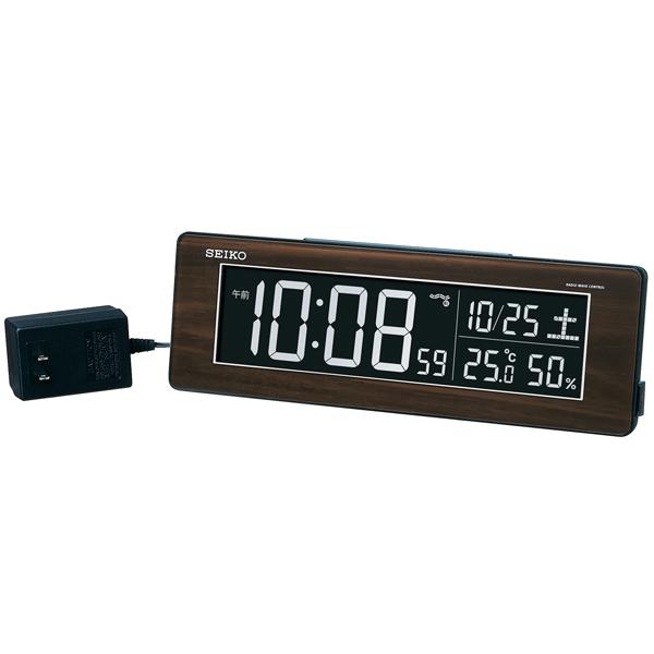 【お取寄せ品】セイコークロック 電波交流式デジタル・目ざまし時計DL210B