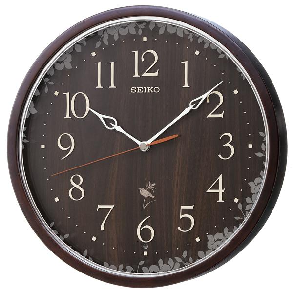 【お取寄せ品】セイコークロック ナチュラルスタイル 電波掛時計 RX215B
