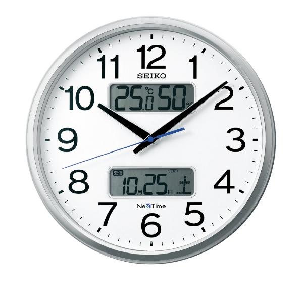 【お取寄せ品】セイコークロック電波掛時計カレンダー、温度・湿度表示つき電波掛時計ZS250S