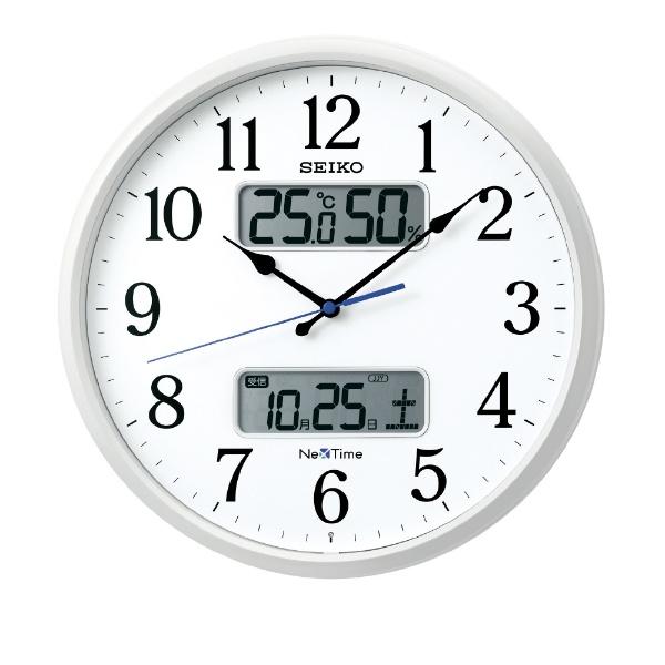 【お取寄せ品】セイコークロック電波掛時計カレンダー、温度・湿度表示つき電波掛時計ZS250W