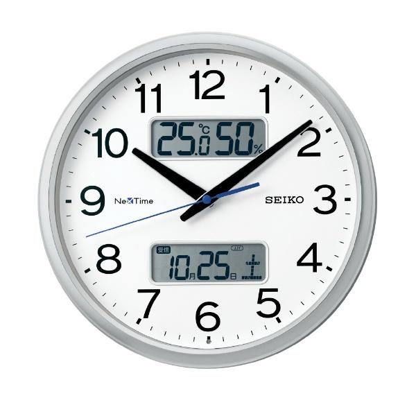 【お取寄せ品】セイコークロック電波掛時計カレンダー、温度・湿度表示つき電波掛時計ZS251S
