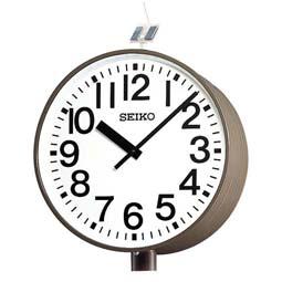"""【お取寄せ品】セイコー製 電波掛時計 システムクロック """"ソーラー式""""(両面ポール型)QFC-783R【smtb-tk】"""
