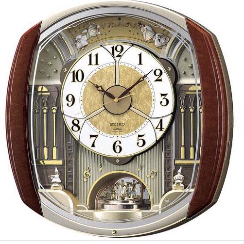 【お取寄せ品】セイコークロックからくり電波掛時計RE564H